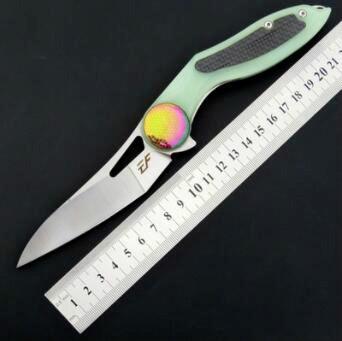 eafengrow EF14 D2 G10 de la lámina manija táctica de caza plegable del cuchillo del cuchillo de la supervivencia del bolsillo herramientas multi navidad