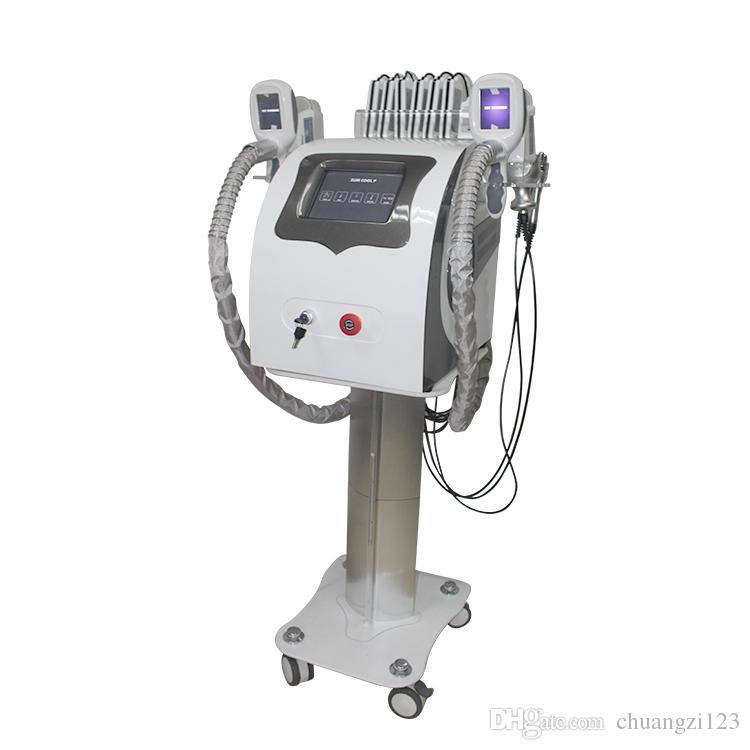 manico professionale freeze cryo + 5 levigatura a radiofrequenza uso vuoto cavitazione e corpo + 8 pastiglie laser a diodi macchina di bellezza