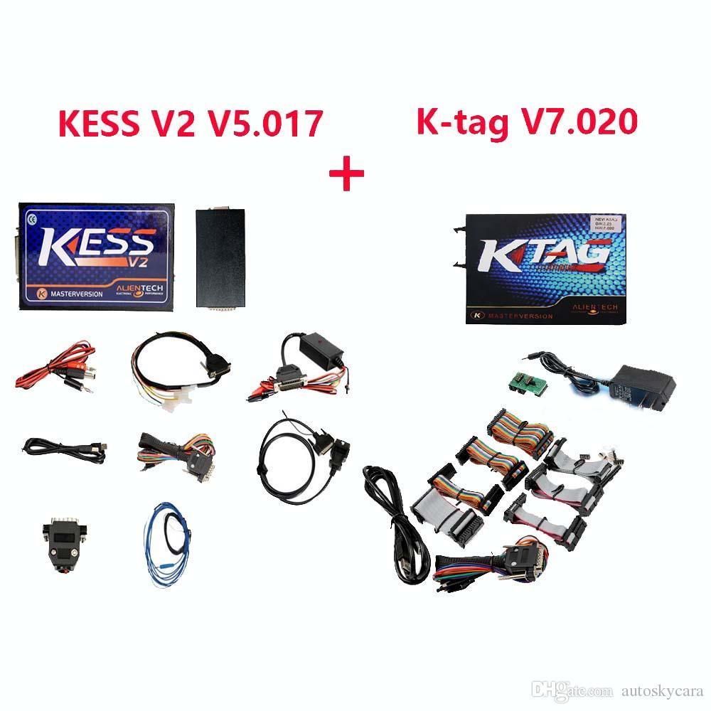 Kess V2 V5.017 and Ktag V7.020 ECU Programmer Master Version No Tokens Limitation Universal ECU Chip Tuning tools
