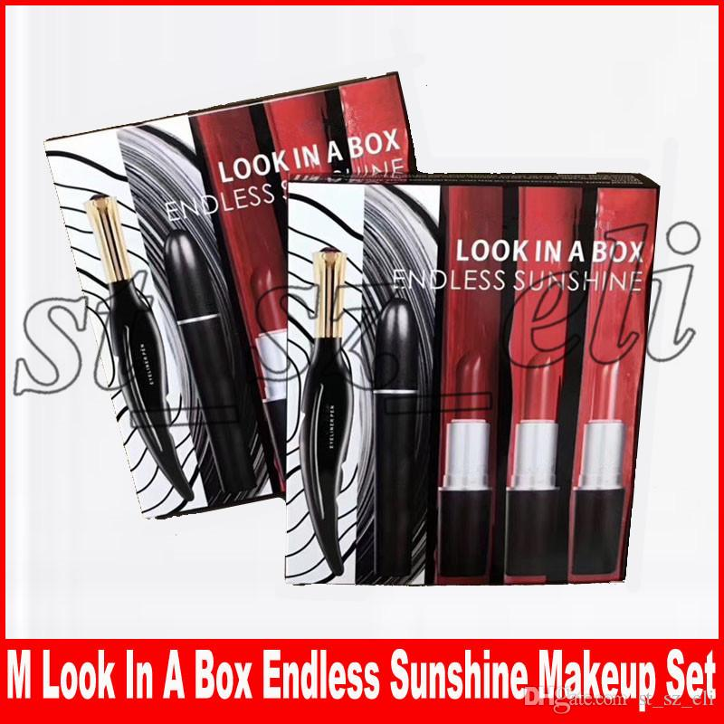 New Makeup Set Look in A Box Endless Sunshine Eyeliner Mascara Matte Lipstick 5 in1 Sets