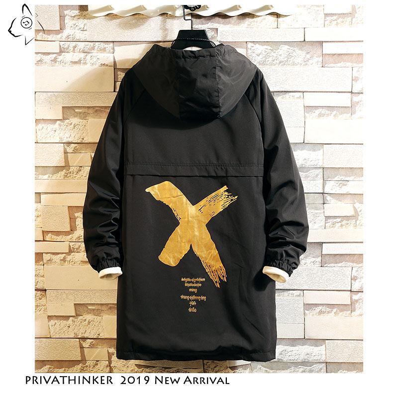 Privathinker мужчины ветровка с капюшоном грузовая куртка мужская Осень Зима карман 5XL куртка мужской 2019 повседневная уличная куртка пальто SH190921