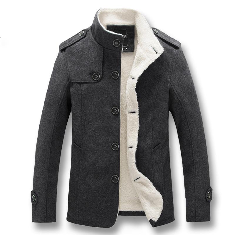 Мужчины нейлоновые куртки и пальто Jaqueta Masculina Мужской Повседневная мода Slim Fit Зима Осень Толстые флисовые Куртки Мужчины