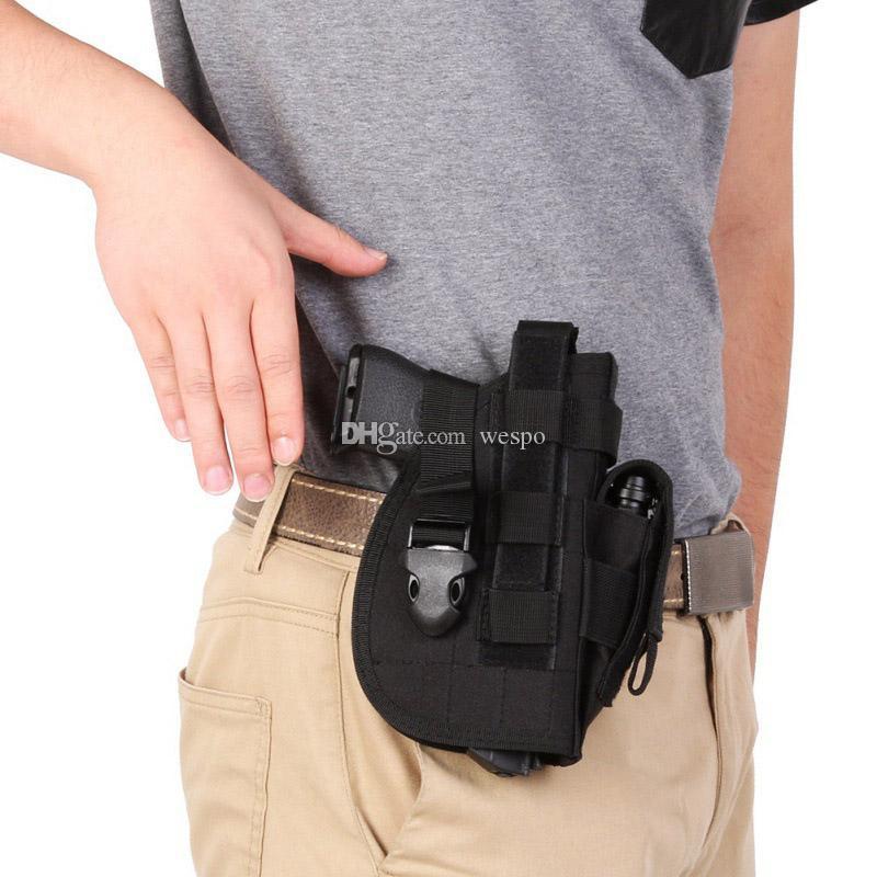 dever tático Coldre Saco pesado da arma Molle Modular rápida Pistol lançamento Holster cinto para atiradores destros