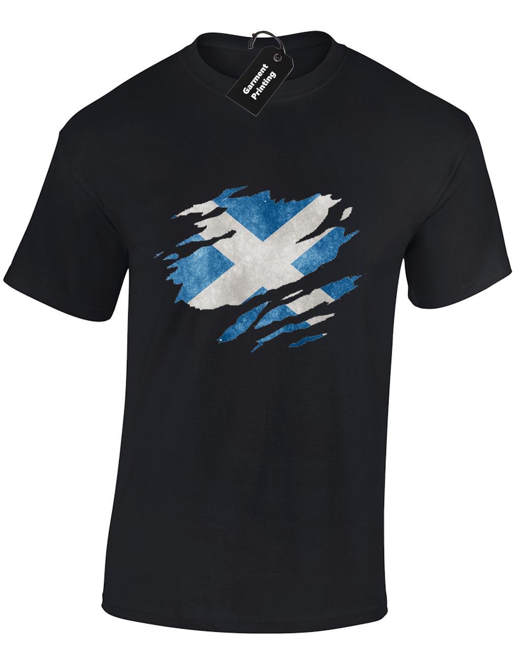 Scotland Flag Skull Mens Short Sleeve Polo Shirt Classic-Fit Blouse T-Shirt
