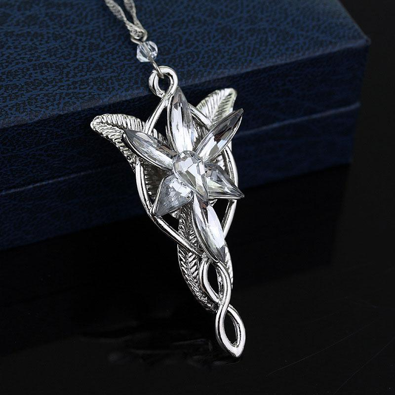 Crepuscolo Collana Signore degli Anelli ps0060 guidata dalla principessa cerimonia nuziale del pendente Star Princess ciondolo di cristallo