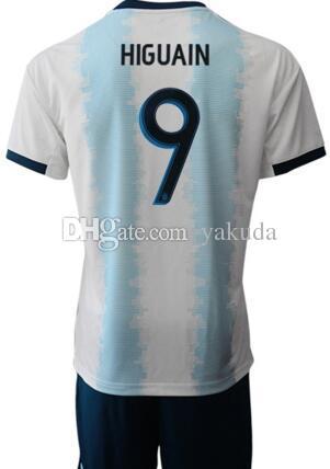 19-20 Özelleştirilmiş 10 Messi Futbol Forması Şort Ile Formalar Setleri, erkekler Özel 21 Dybala 11 Di Maria 22 L. MARTINEZ Futbol Formalar Unform