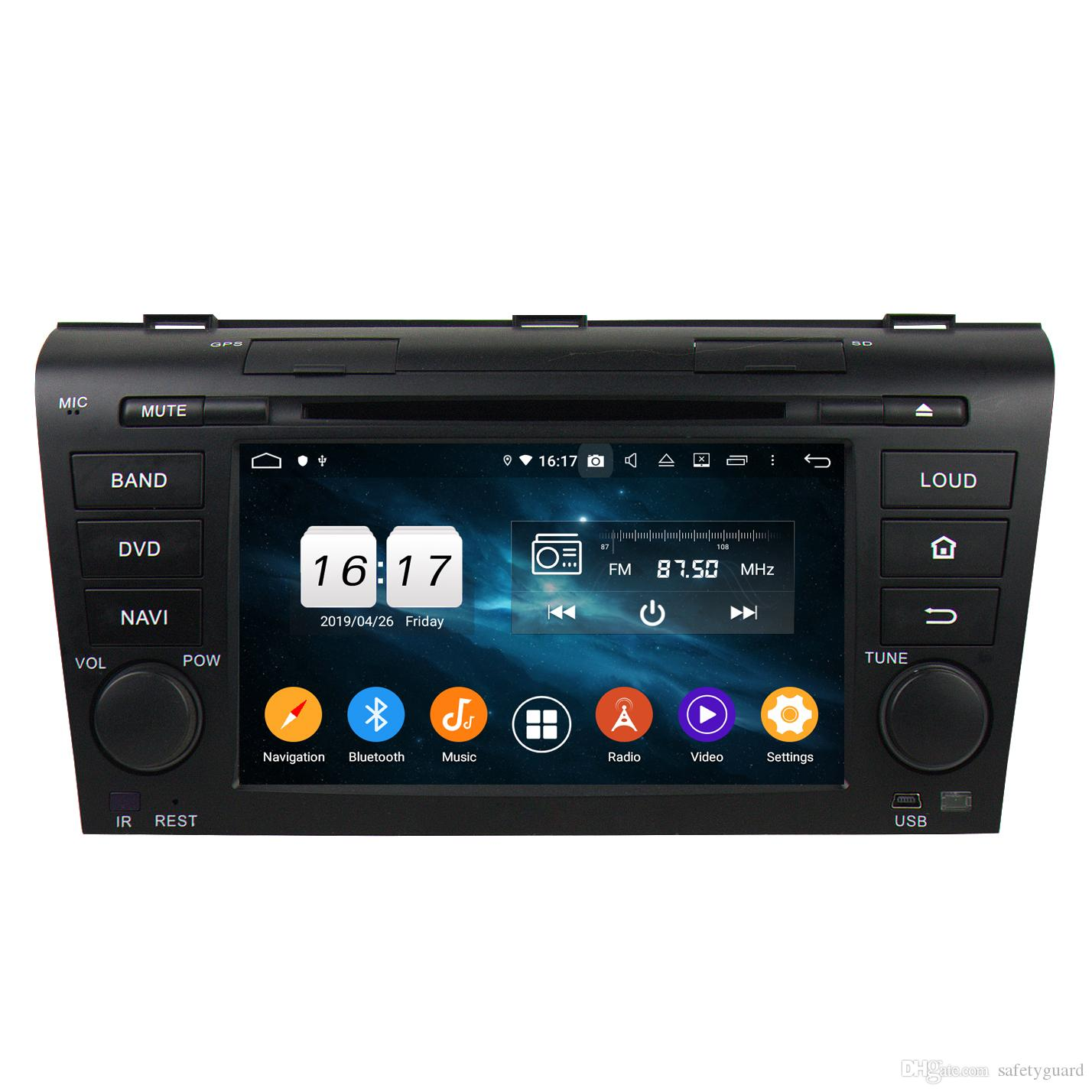 """DSP Android 9.0 Octa Core 2 din 7"""" Car DVD Radio GPS for Mazda 3 2004-2009 With 4GB RAM Bluetooth 4.2 WIFI USB Mirror-link"""
