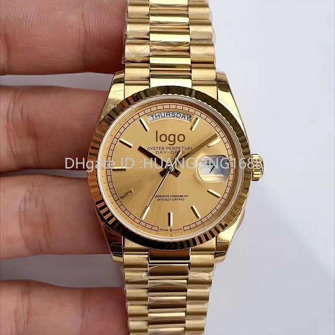 EW new gold 3255 automatic mechanical movement 128238 series 36MM men's watch