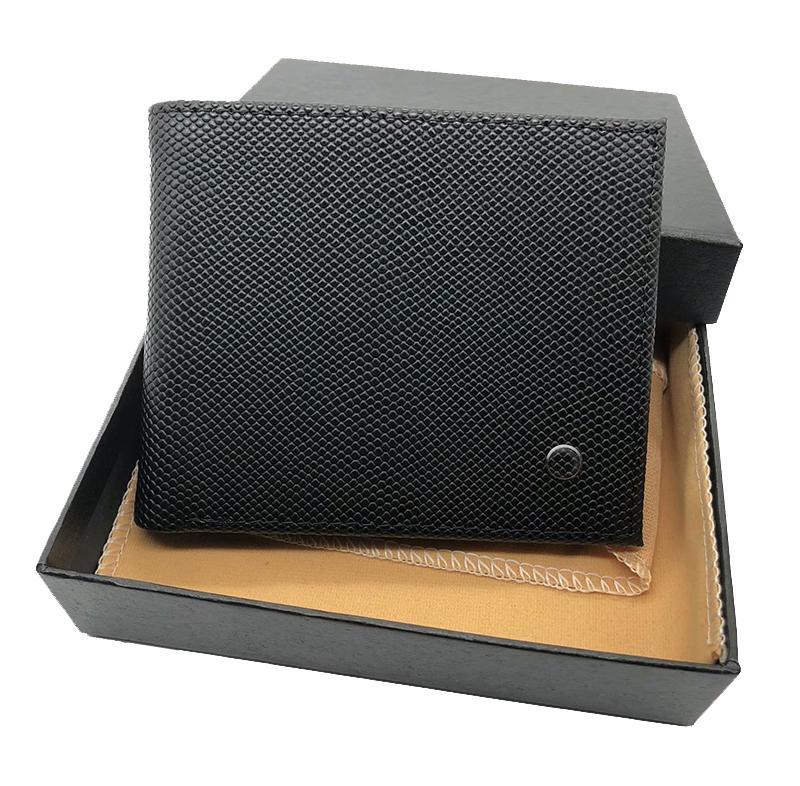Lüks tasarımcı cüzdan 2019 yeni deri erkek kredi kartı sahibi kısa deri cüzdan moda iş erkek çantası