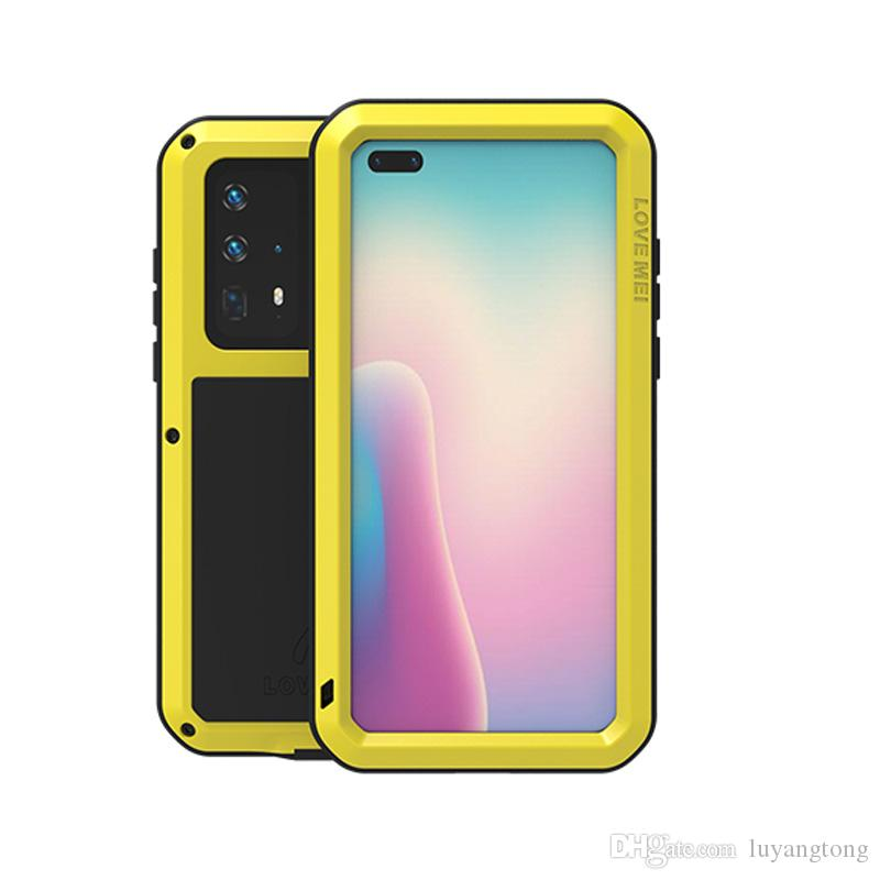 Pour Huawei P40 service original amour Mei lourd Housse de protection pour Huawei P40 cas de couverture métallique de protection puissants téléphone cellulaire cas