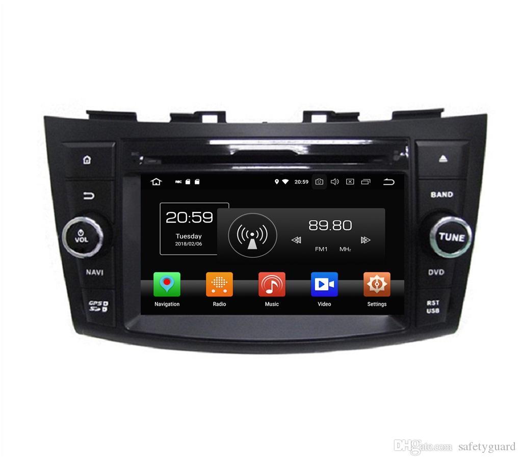 "Octa Core 2 din 7 ""Android 8.0 GPS do carro DVD Rádio para Suzuki SWIFT 2011 2012 Com 4GB de RAM Bluetooth WIFI 32GB ROM Mirror-link"