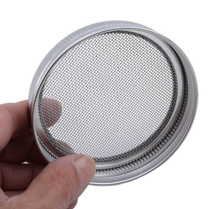 스테인레스 스틸 여과기 필터 순 커버 종자 돋 화면 돋 뚜껑 라운드 입 캐닝 항아리