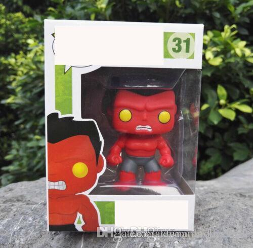 Chine chanceux FUNKO POP Brand New fer vinyle Man Hulk rouge Collection Figures d'action jouet