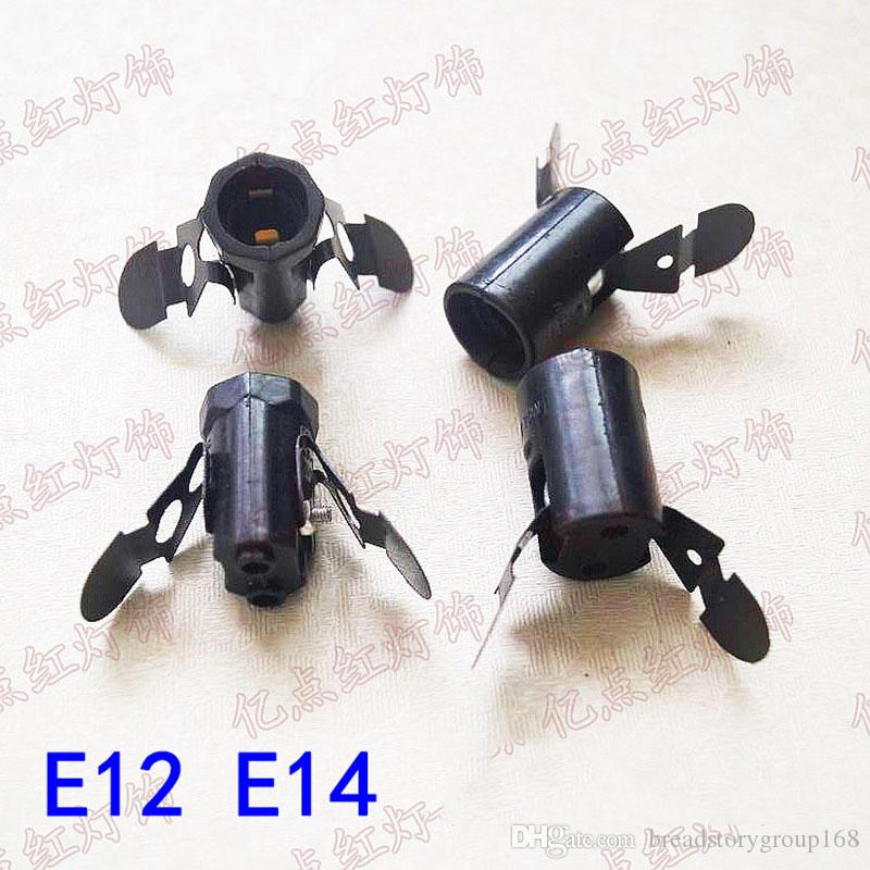 E12 مصباح حامل مع الربيع قطعة E14 قاعدة مصباح مع الربيع قطعة E12 E14 برغي صغير قبعات سولت كريستال اكسسوارات مصباح
