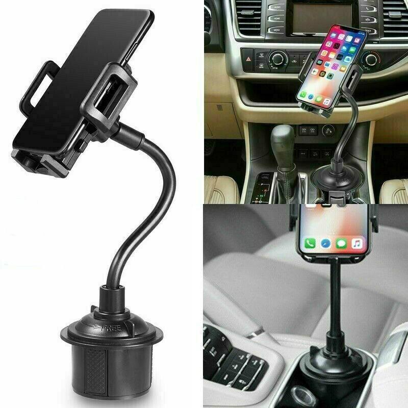 유니버설 자동차 마운트 휴대 전화 화웨이 아이폰, 삼성을위한 조정 가능한 거위 목 컵 홀더 크래들 (소매)