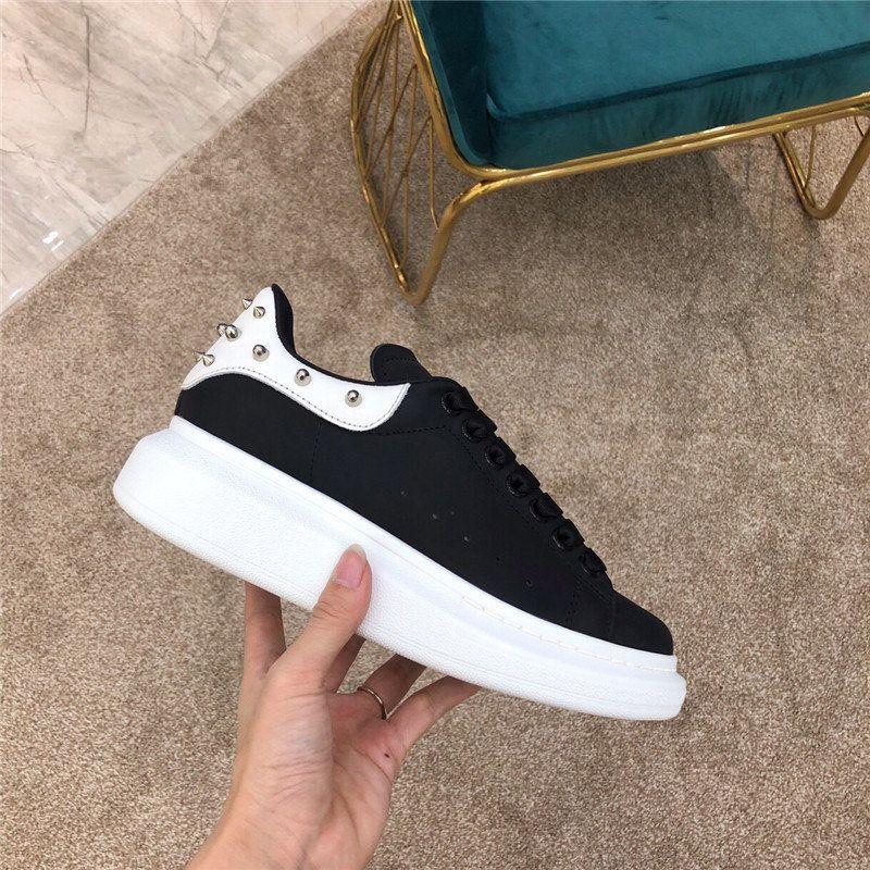 Neue heiße klassische Frauen-Mode Schöne Mädchen Partei-Qualitäts-Leder Sneakers Flache Runners Trainer Schuhe
