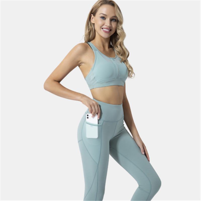 Yoga 2020 delle donne Set sportivo Reggiseno sportivo + Leggings fitness Pants Esecuzione Suit Esercizio Abbigliamento
