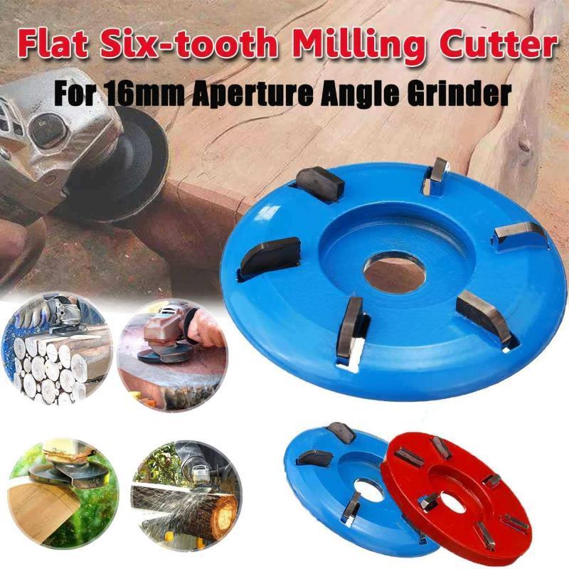 Seis dentes Poder de escultura em madeira de corte Disco de trituração Anexo 90 milímetros 16 mm de diâmetro Bore Arc / Flat para ferramentas Angle Grinder Polimento