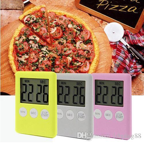 Large Digital LCD Kitchen Cooking Timer Count-Down Up Clock Alarm Magnetic Convenience Kitchen Timer Tools Alarm