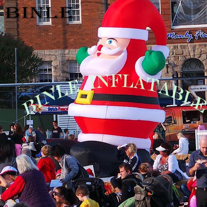 Outdoor evento festa gigante gonfiabile di Natale Babbo Natale, a buon mercato di natale cantiere Santa ornamenti per il nuovo anno di decorazioni