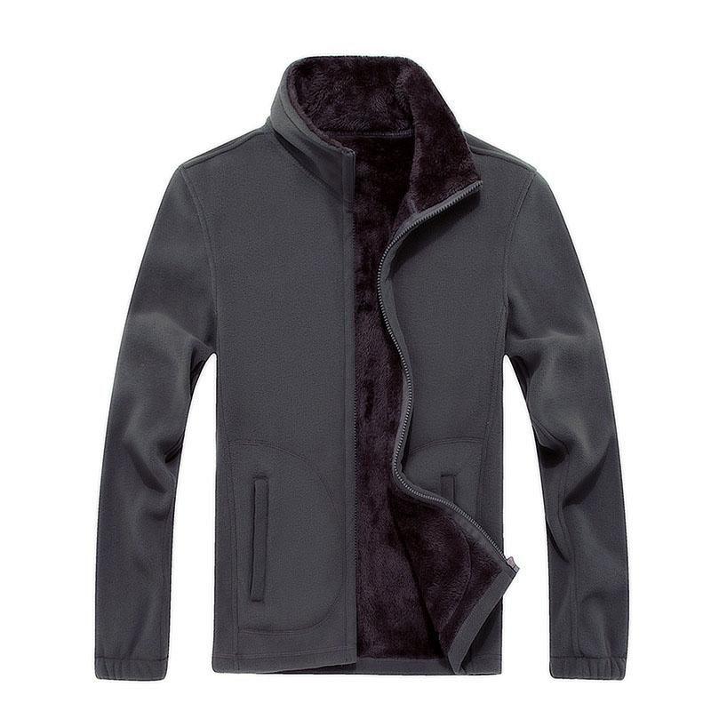 Winter New XL 8XL Mens Fleece Casual Jackets Men Warm Sweatshirt Thermal Coats Men Slim Fat Solid Thickened Outwear F1561