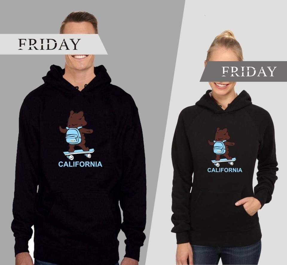 Camisa California Card Tide Cartoon Bear Coat Incluso Cap Sleeve Head Sweater Hombre Camisetas