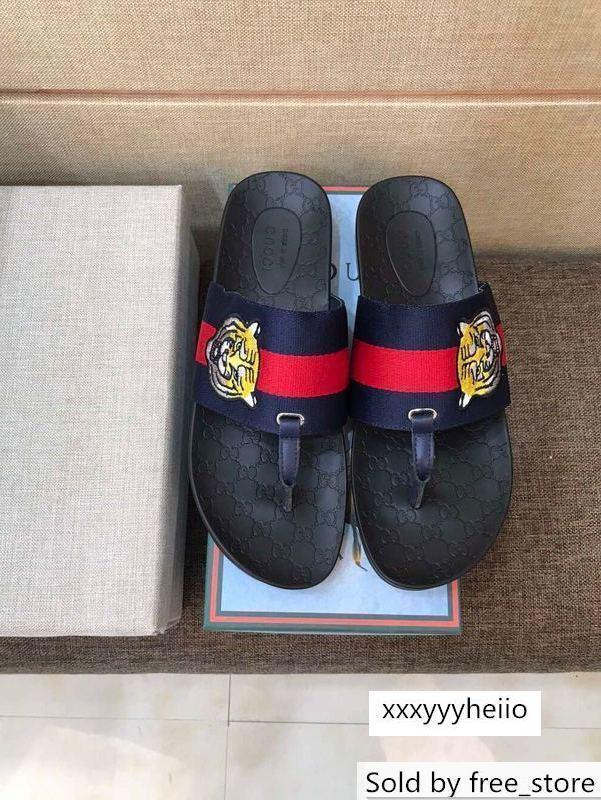 2019 2018 NOVO chinelos 207520 Homens chinelos Drivers Sandals Slides Sapatilhas de couro deslizador