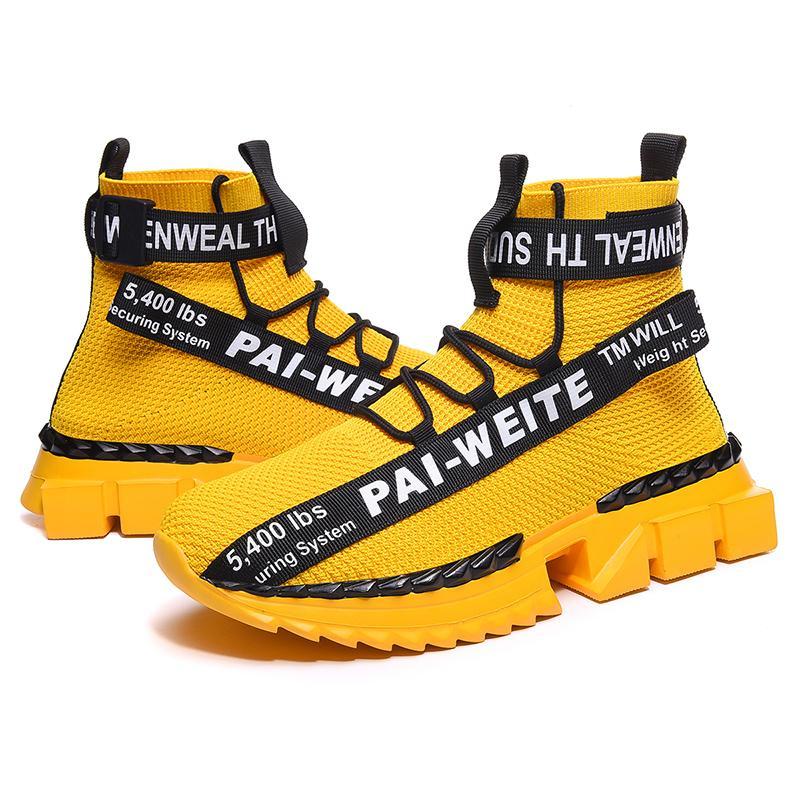 Ücretsiz Kargo Tasarımcı Casual Ayakkabı erkek Sneakers Hip-hop Yürüyüş Klasik Yüksek Top Erkekler Baskılı Ayakkabı Toka Casual Erkek Ayakkabı Erkek