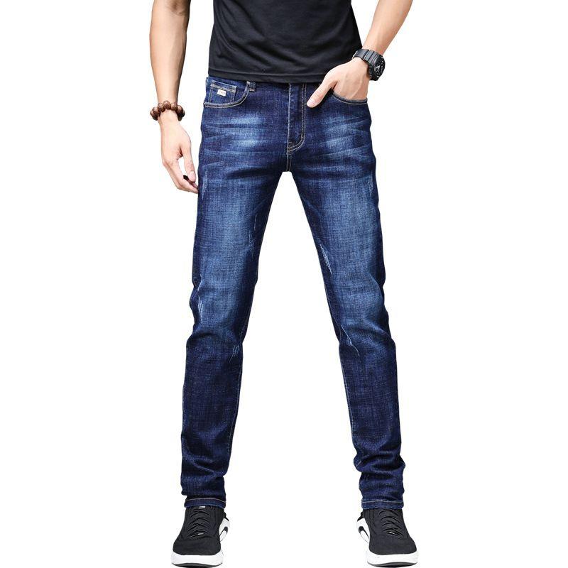 más nuevo mejor calificado alta calidad vívido y de gran estilo Compre Recién Llegado Jeans Hombre Descuento Hombres Skinny Jeans  Pantalones Moda Estiramiento Pies Pantalones Jean Slim Homme Hombres  Classic Blue A ...