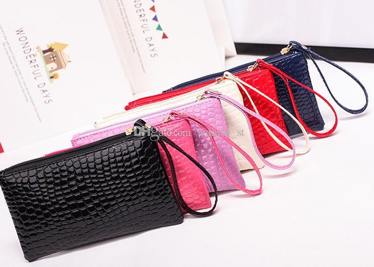 Großhandel Fabrik Kunstleder Brieftasche Persönlichkeit Hand Mode Frauen klassische lange Geldbörse Handtasche Frauen Handtasche Münztasche