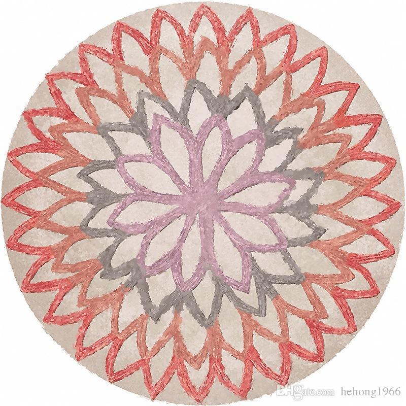 Basket Carpets Swivel Chair Floor Mat Geometry Round Flower Orange Blue Cartoon Lovely Childrens Room 59jq3 E1