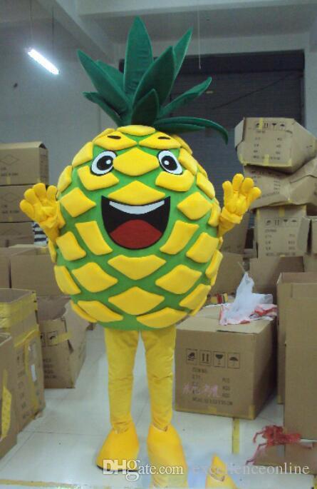 2018 novo Desconto venda de fábrica abacaxi frutas nova marca Traje Da Mascote Completa Outfit fantasia Traje Da Mascote Traje Completo Outfit