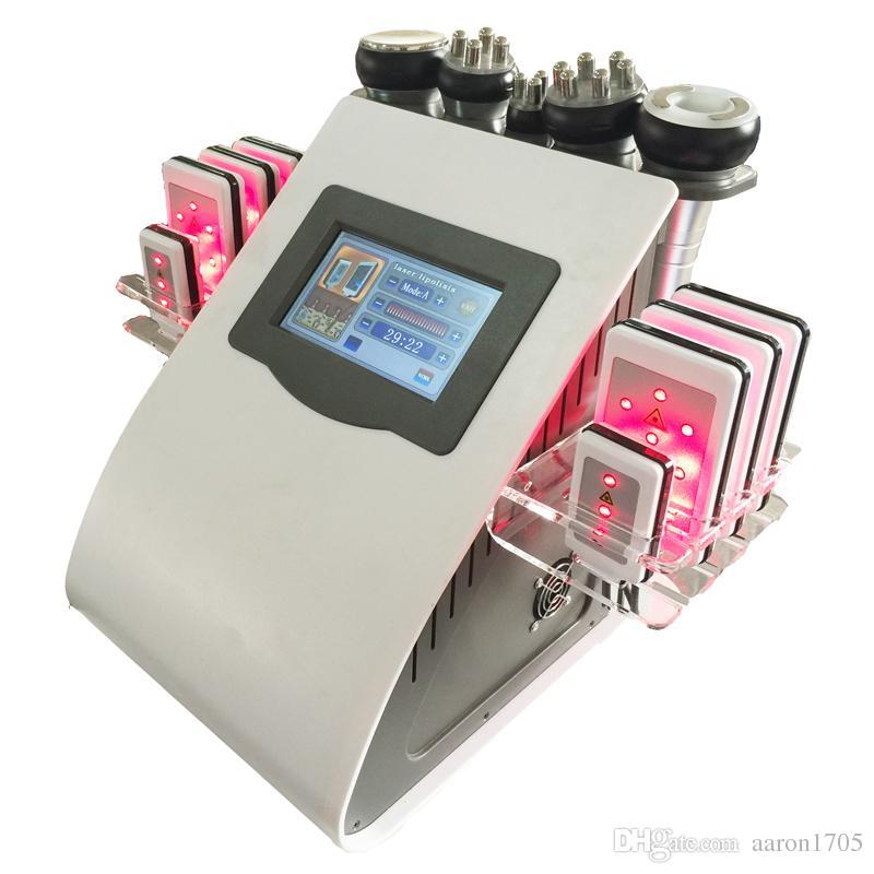 효과적인 40K 초음파 cavitation 기계 lipo 레이저 8 패드 진공 RF 바디 조각 스킨 케어 살롱 스파 기계 슬리밍