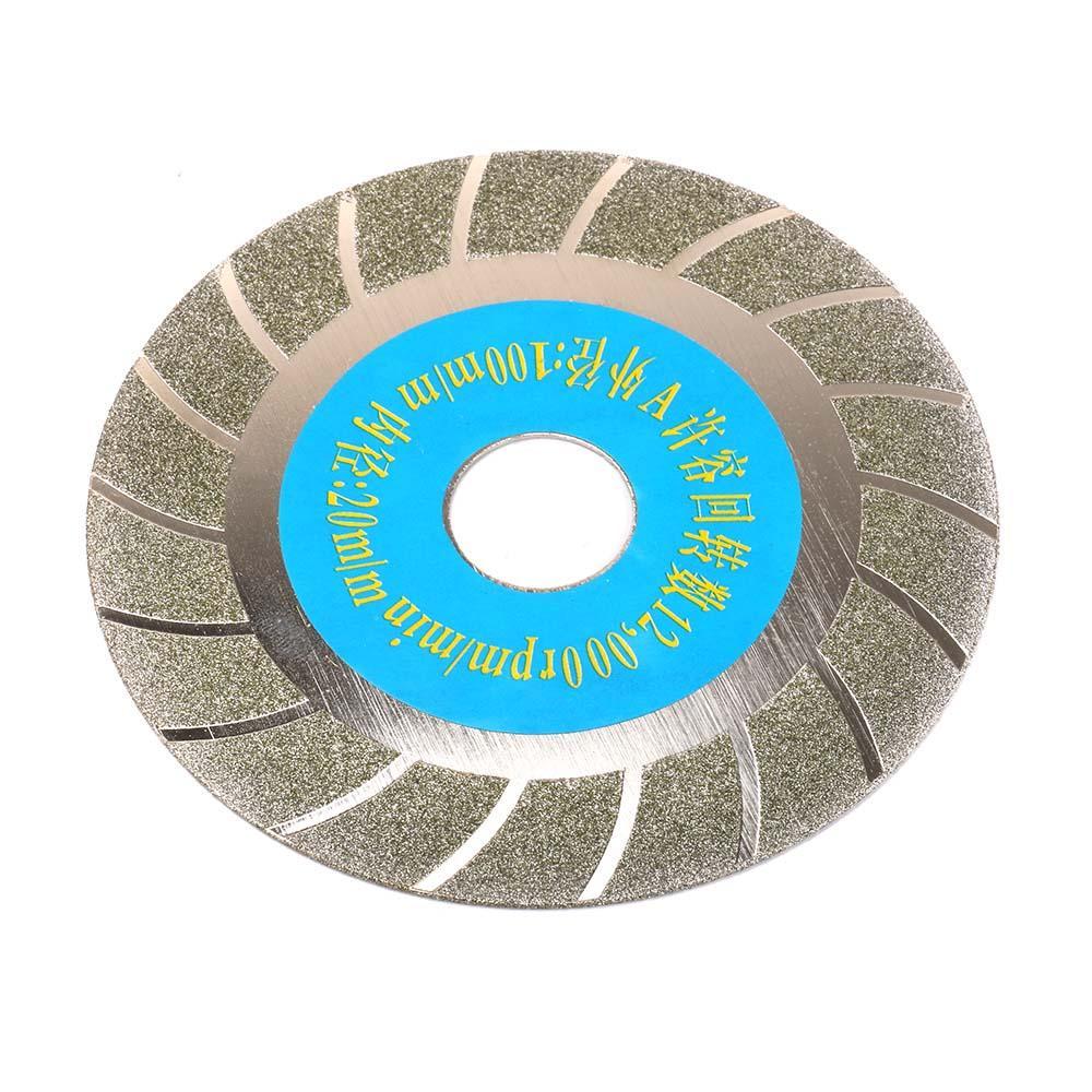2Pcs 4 Inch Diamond Cutting Disc Grinding Wheel Circular Saw Blade Rotary Tool For Glass Porcelain Ceramic Crystal Gemstone Brick