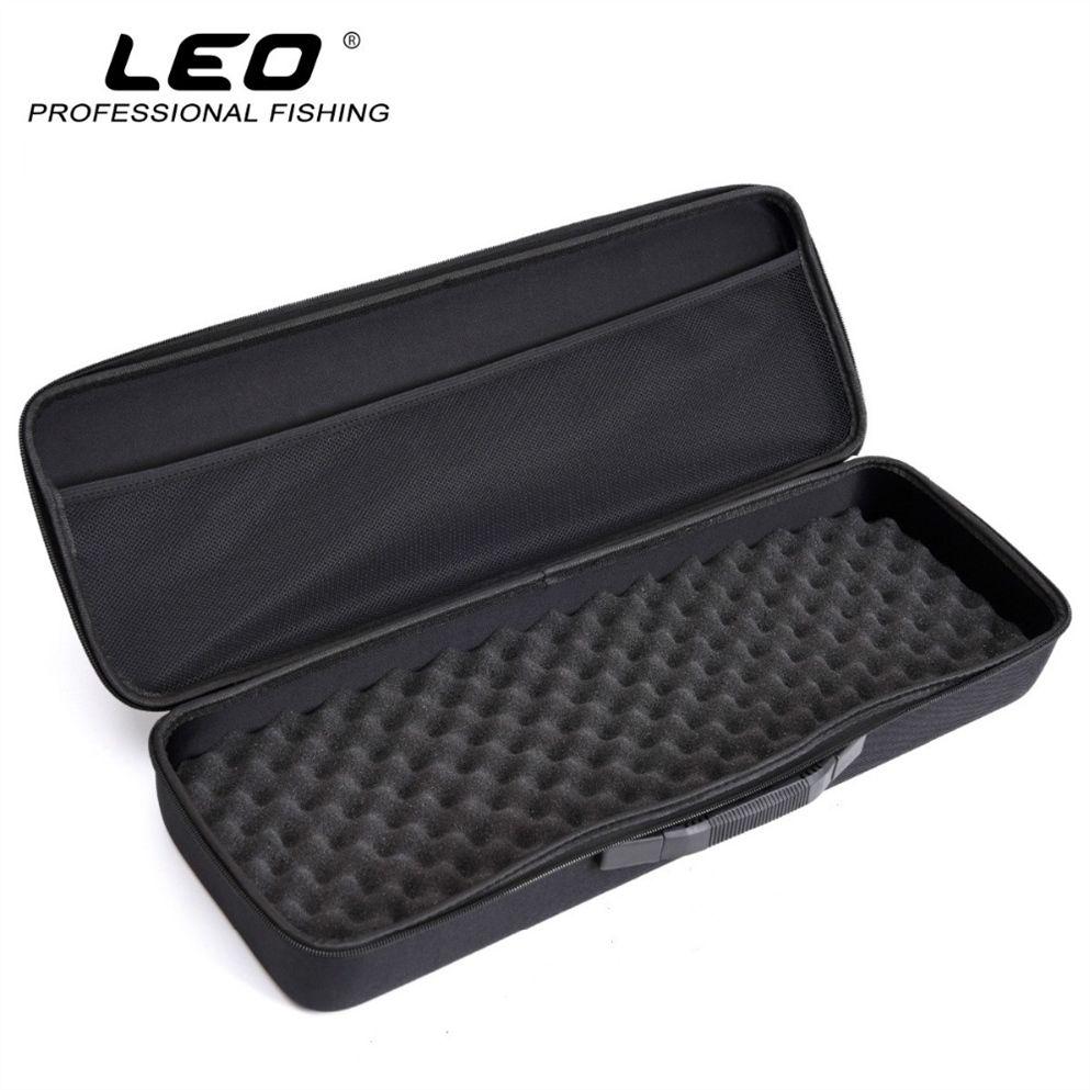 LEO Portable Fishing Bag EVA Shockproof Fishing Rod Reel Lure Carry Backpack Pole Storage Case for Pesca #835433