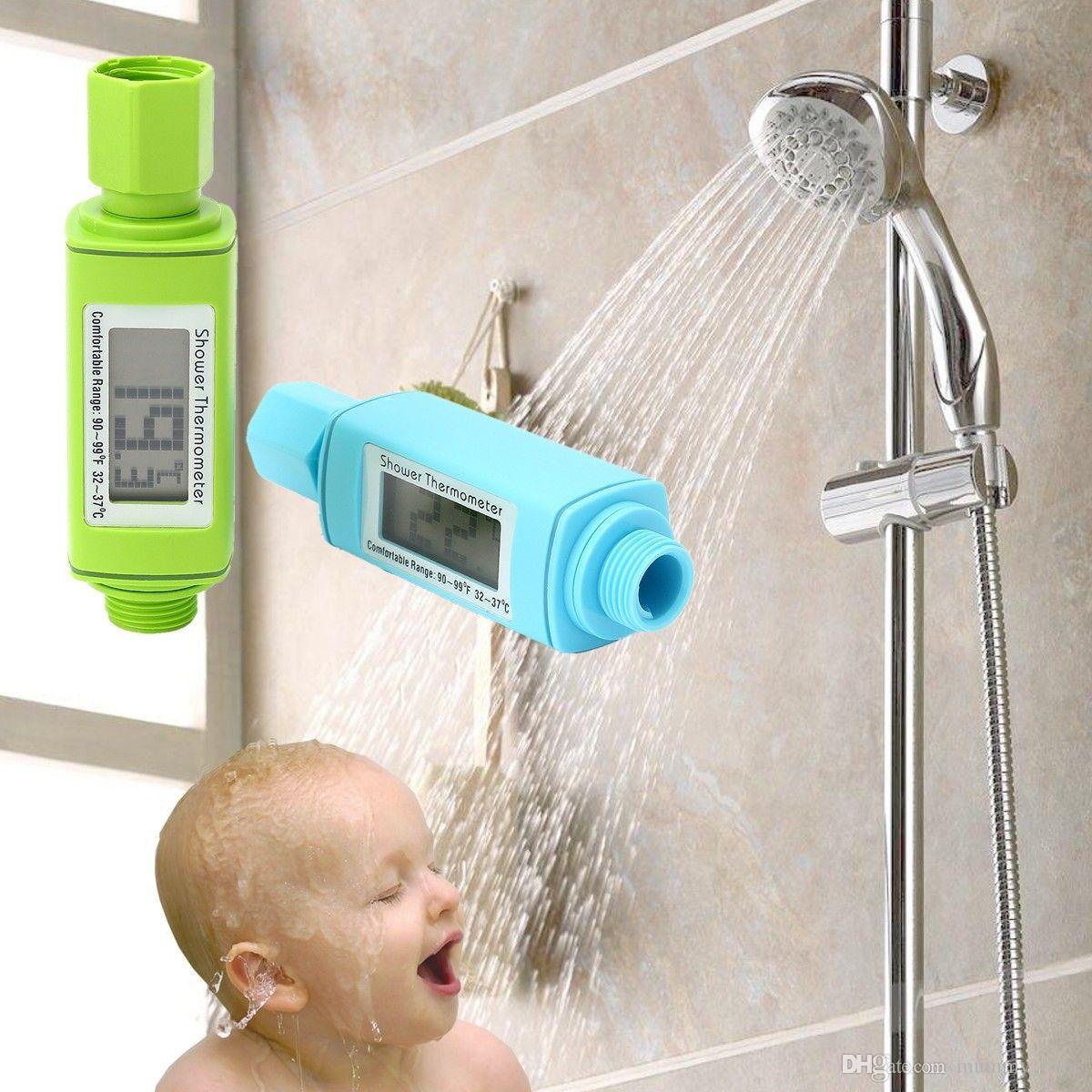 Großhandel Elektrische Gesundheit Dusche Thermometer Wasserdichte ...
