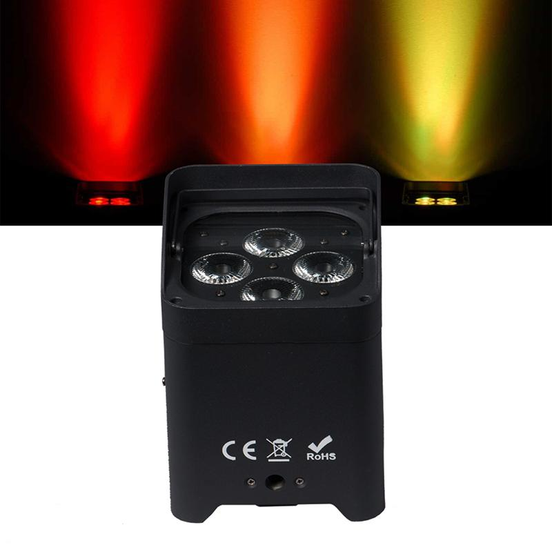 10pcs Freedom PAR Wireless DMX Batterie RGBWA UV 6in1 lumières WIFI Télécommande LED Smart Flat PAR DJ Uplightings
