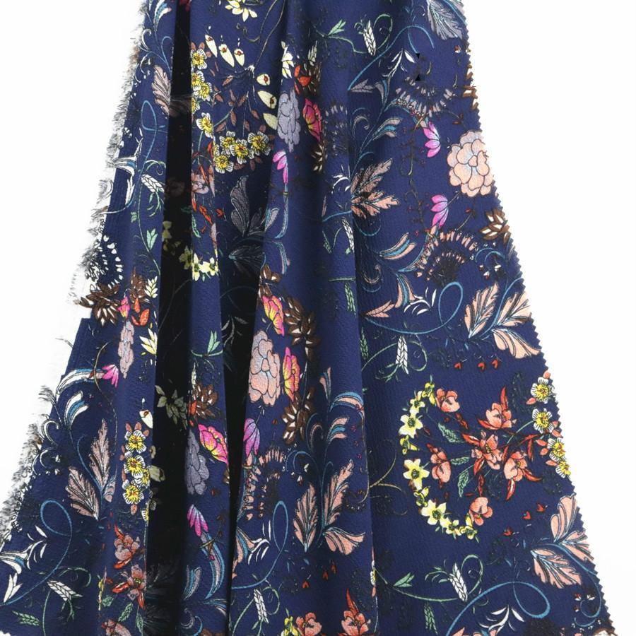 Fabrika doğrudan dokuma çiçekler 75D kabarcık şifon baskı bez Bahar ve yaz moda elbise kumaş butik