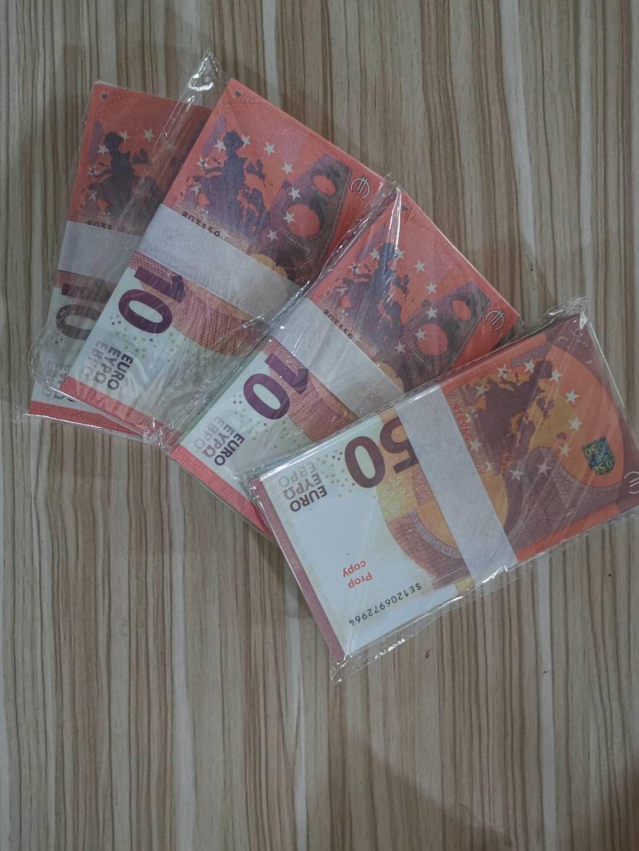 Euro Fake Money Prop-Geldpapier 10 20 50 100 Euro-Rechnungen Preise Banknotengeschäftsgeschäftsgefälschiges Papiergeld für Sammlung