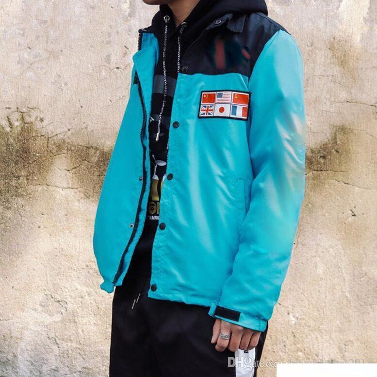 Felpa con cappuccio Maglione Abbigliamento Jogging Coat Mappa Riflettente Giacche North Mens Jacke Felpe con cappuccio Giacca a vento Veste Homme Blouson