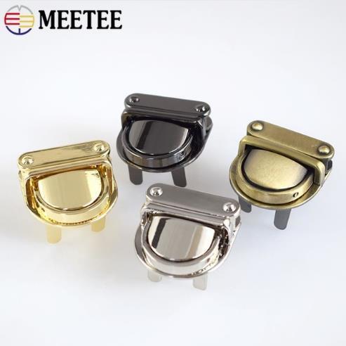 KY2075 Metal Twist Locks Bag Bolso Cierre de cierre Snap Purse Turn Lock Corchete Hebillas Accesorios hechos a mano DIY Cuero Craft