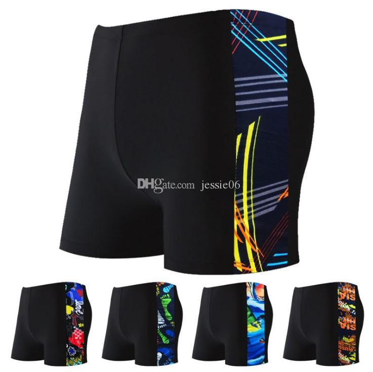 Men's swimming trunks classic Korean sports fashion adult shorts trend hot springs boyshort swimwear Swimsuit new