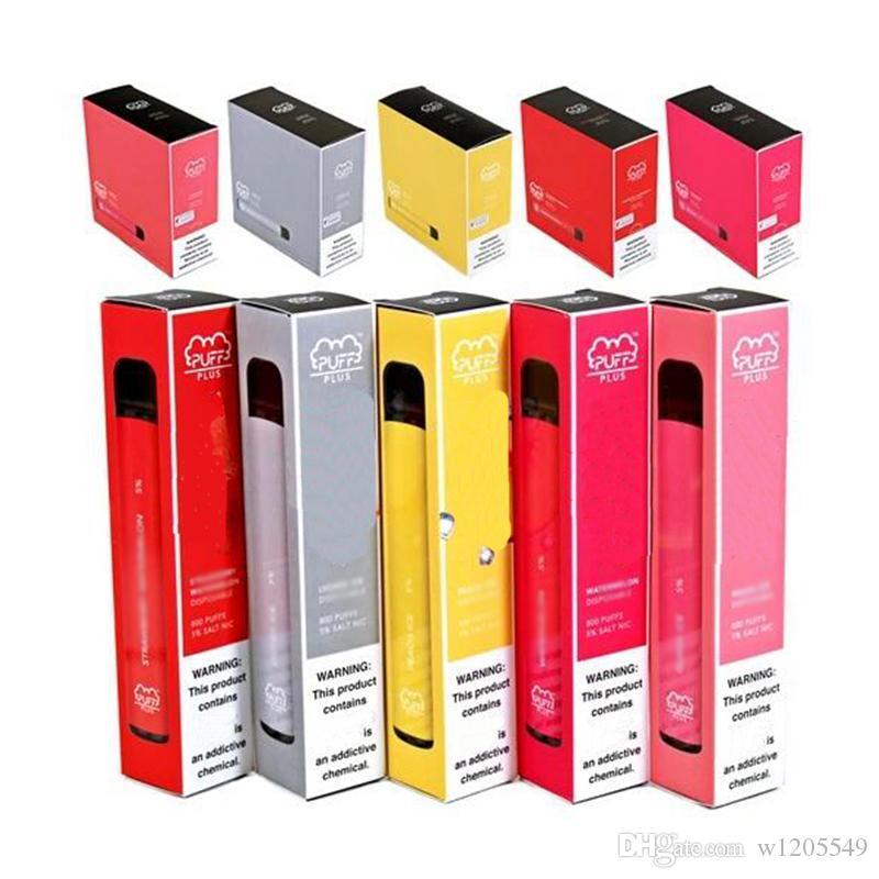 2020 PUFF Disponibile PLUS 800 Puff monouso Pod Cartridge 550mAh Batteria 3.2mL Vape Pod e portatile sigaretta dispositivo vaporizzatore vapore