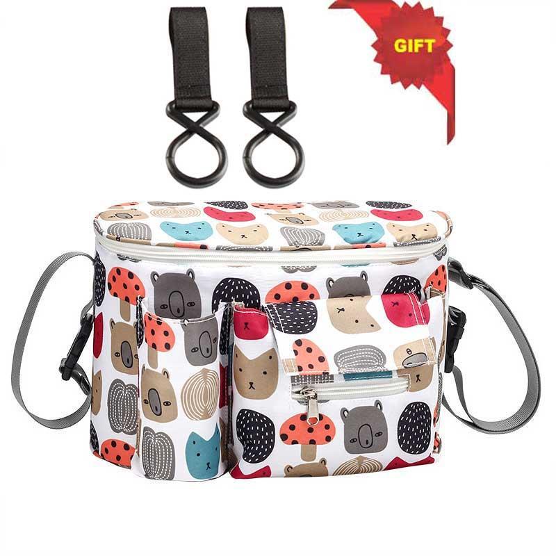 Ayrılabilir Çanta Fonksiyonlu Arabası Bezi Çanta Arabası Aksesuarları ile Materilla Bebek Arabası Arabası Çanta