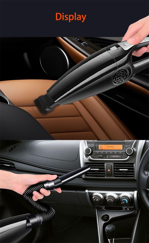 120W 3600MBAR Auto Staubsauger Hohe Absaugung für Auto Nass und trocken Dual-Use-Staubsauger Handheld 12V Mini-Auto-Staubsauger