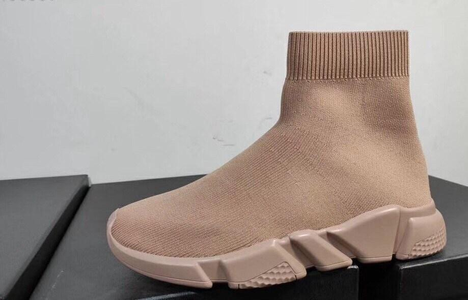 Light Tan Sock Shoes Luxury Apricot Shoe Speed Trainer 2020 Sneakers Speed Trainer Sock Race Shoes men and women Sock Trainers Hiking c23