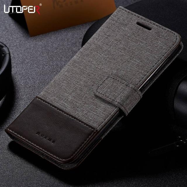Équipée de UTOPER Case 6.1 Flip Case Wallet PU cuir pour Nokia Capa 6 cas d'affaires Fundas Pour Nokia 8
