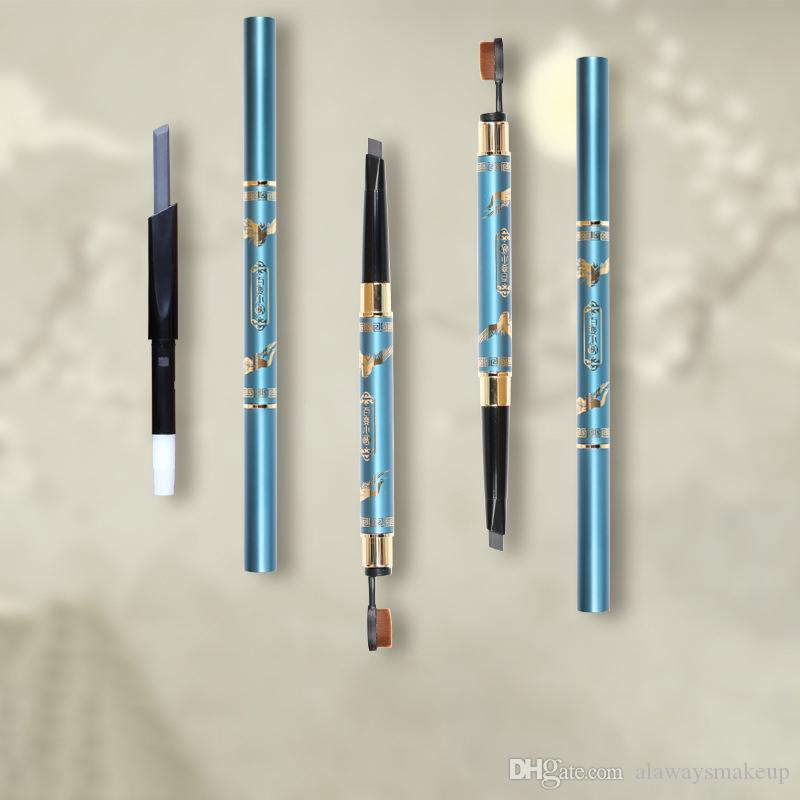 Automatico Eyebrow Pencil doppio fine Spazzolino pettine del sopracciglio Super Fine impermeabile sudore anti penna del sopracciglio Occhi Make up 3 colori trasporto libero