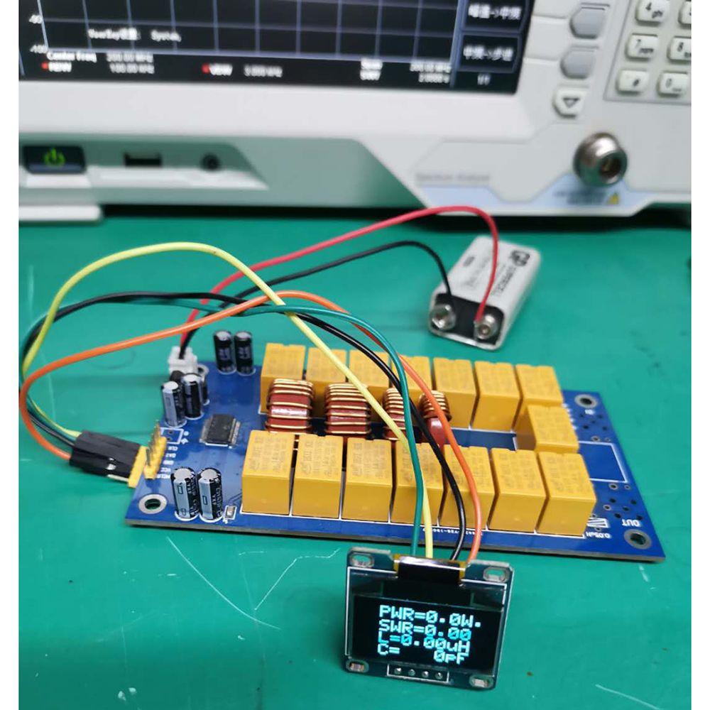 Freeshipping DIY KITS MINI 0.96 inch OLED ATU100 automatic antenna tuner 1.8-50 MHz 100W by N7DDC E3-010