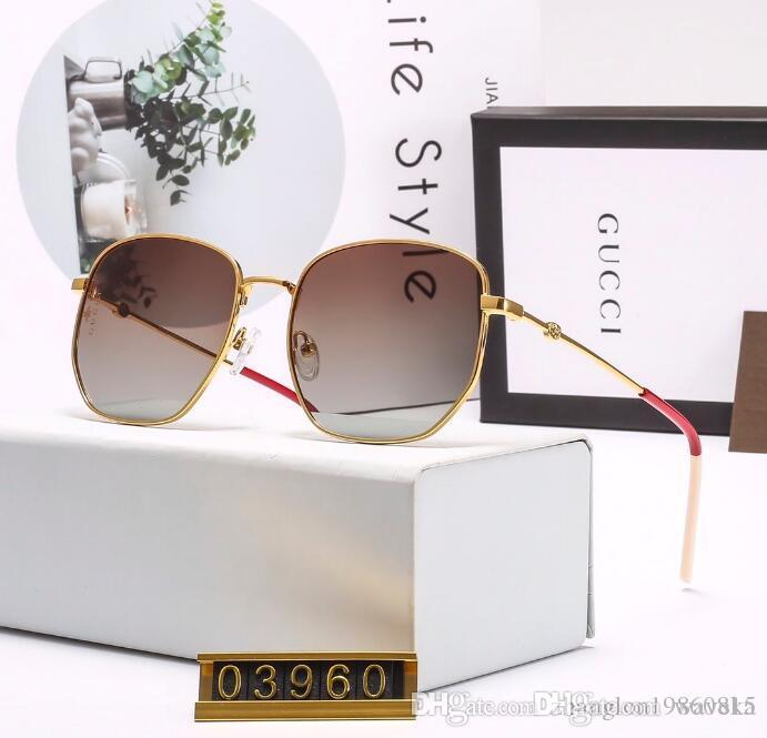 2020 diseñadores de moda de lujo grandes de metal Sun gafas de lentes para los hombres de las mujeres de cristales de protección UV gafas de sol I2
